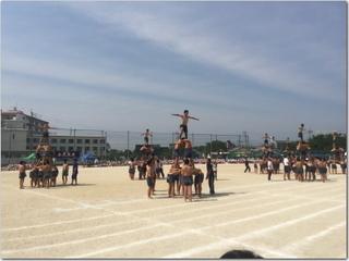 体育会の組体操の人間ピラミッドで思ったこと。