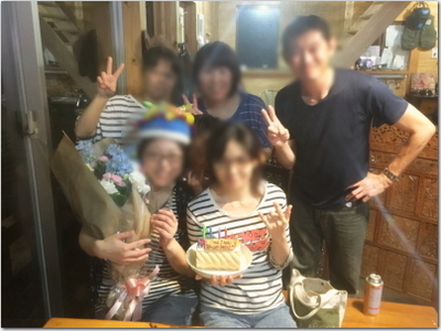 同級生とチーズフォンデュパーティー☆そしてサプライズでハッピーバースデー♪友達っていいね。の幸せなひととき〜