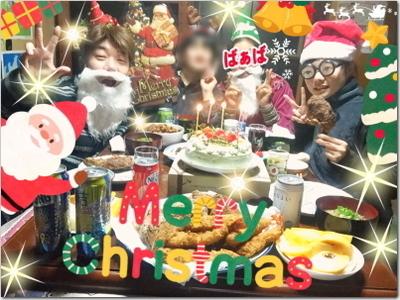 メリークリスマ〜ス☆娘らが抹茶のホールケーキを☆おおとう桜街道のイルミネーション綺麗でした〜♪そしてうちのさくらんぼは!?