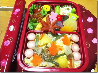 今日は小学校の秋の遠足でお弁当☆