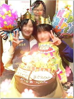さくらんぼ卒業式&あかねちんお誕生日のW祝い無事終了〜☆