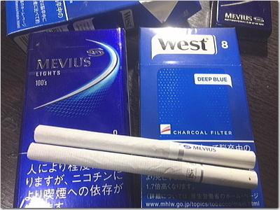 メビウス→Westへ。たばこの銘柄、変えてみました♪