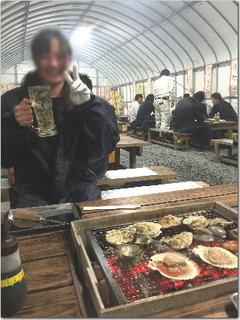 さくらんぼの合格祝いに牡蠣小屋シャカリキへ!?